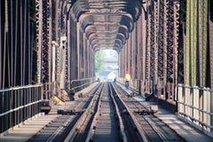 CN Inspects Rail Bridge Royalty Free Stock Photo