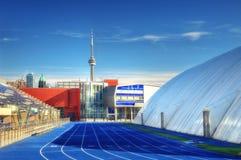 cn miejsca budowy skyline żaglówek Toronto pierwszoplanowy wieży zdjęcia royalty free
