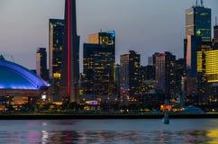 cn miejsca budowy skyline żaglówek Toronto pierwszoplanowy wieży zdjęcie stock