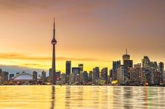 cn miejsca budowy skyline żaglówek Toronto pierwszoplanowy wieży fotografia royalty free