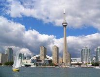 cn miejsca budowy skyline żaglówek Toronto pierwszoplanowy wieży zdjęcia stock