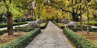 CN Nanjing Ming Tomb Alley Stock Image