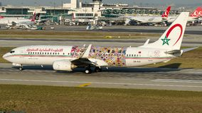 CN-RGF Royal Air Maroc, Boeing 737-800 stock images