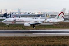 CN-RGN摩洛哥皇家航空公司,波音737-8B6 图库摄影