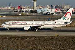 CN-RNW Royal Air Maroc, Boeing 737 - 800 Arkivfoto