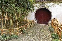 CN Suzhou Garden Shut Door Wall Stock Images