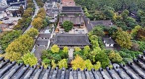 CN Suzhou Temple Aerial Stock Photo