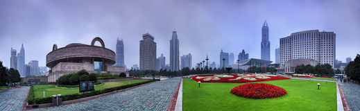 CN Szanghaj kwadrata wzrosta niecka Zdjęcie Stock