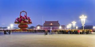 CN Tiananmen Flagpole Right Stock Photos