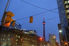 CN Toren bij dageraad Stock Foto