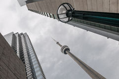 CN tower amidst modern building Royalty Free Stock Photos