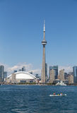 CN Tower and a Canoe Royalty Free Stock Photo