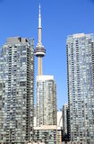 CN Tower and Condos Royalty Free Stock Images