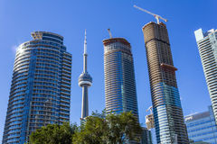 CN Tower and Condos Stock Photos