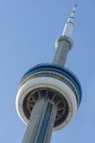 CN Tower detail in a blue sky day Stock Image