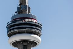 CN Tower with Edge Walkers Royalty Free Stock Images