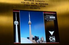 Cn tower elevator Stock Photos