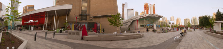 CN Tower entrance panorama - TORONTO, CANADA - MAY 31, 2014 Stock Photo
