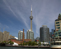 CN Tower and harbour front Royalty Free Stock Photography