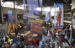 Toronto, 24th June: CN Tower interior Shop from Toronto in Ontario Province Canada. CN Tower interior Shop from Toronto in Ontario Province of Canada on 24th Royalty Free Stock Photography