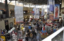 Toronto, 24th June: CN Tower interior Shop from Toronto in Ontario Province Canada. CN Tower interior Shop from Toronto in Ontario Province of Canada on 24th Stock Image
