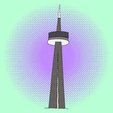 CN Tower pop art vector Royalty Free Stock Images