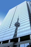 CN Tower reflection, Canada Royalty Free Stock Photo