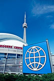 CN Tower and Rogers Center of Toronto Royalty Free Stock Image
