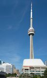 CN Tower and Rogers Centre in Blue Sky Stock Photos