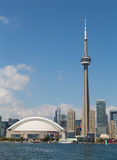 CN Tower and Rogers Centre Royalty Free Stock Photos
