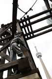 CN Tower and Sculpture in Toronto Stock Photography