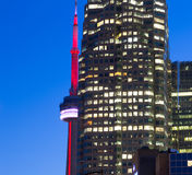 CN Tower and Skyscrapers Stock Photography
