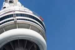 The CN Tower Skywalk and Observation Deck Stock Images