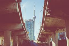 CN Tower in Toronto Canada. royalty free stock image