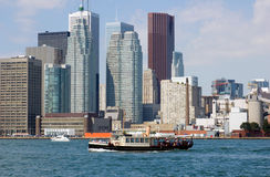 CN Tower. Toronto skyline from Ontario lake Stock Image