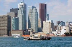 CN Tower. Toronto skyline from Ontario lake. Toronto skyline from Ontario lake Stock Image