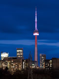 CN Tower at Twilight. Stock Photo