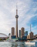 CN Tower and waterfront in Toronto Royalty Free Stock Photo