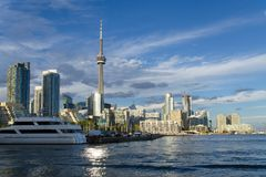 CN Tower and waterfront of Toronto Stock Photos