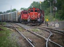 CN trains on tracks Royalty Free Stock Photos