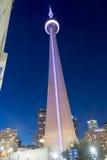 CN van Toronto Toren bij Nacht Royalty-vrije Stock Afbeeldingen