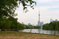 CN wierza widok od Toronto wysp Zdjęcia Stock
