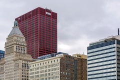 The CNA Center in Chicago. Chicago. IL, USA, october 27, 2016: The CNA Center in downtown Chicago, Illinois. The building was completed in the year 1972 royalty free stock photo