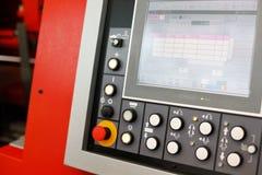 CNC带控制板看见了标尺切割机 库存图片
