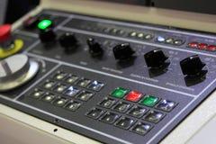 CNC操作员面板 免版税图库摄影