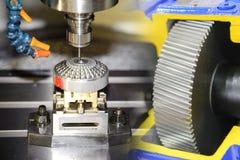CNC机械中心抽象场面  免版税图库摄影