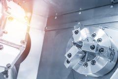 CNC板条机器的抽象场面 免版税库存图片