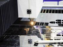 CNC气割金属板 免版税库存照片
