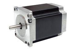 CNC线性轴驱动梯级电动机在白色背景的 免版税图库摄影
