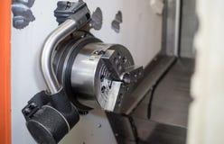 CNC车床在制造过程中 免版税库存照片
